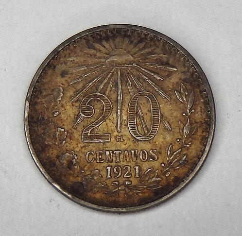 Mexico - 20 Centavos - 1921