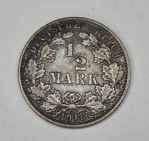 Germany - 1/2 Mark - 1918-A