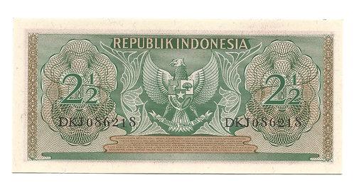 Indonesia - 2 1/2 Rupiah - 1956