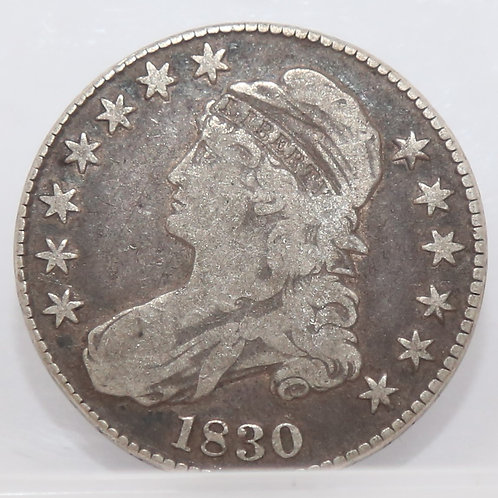 """1830 """"small 0"""" Capped Bust Half"""