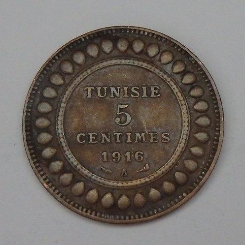 Tunisia - 5 Centimes - 1916A
