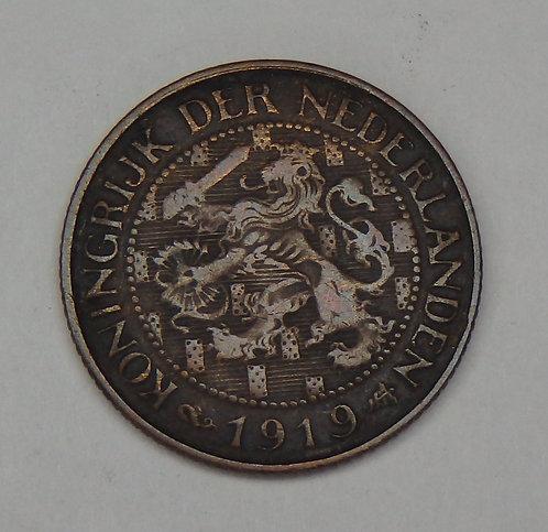 Netherlands - Cent - 1919