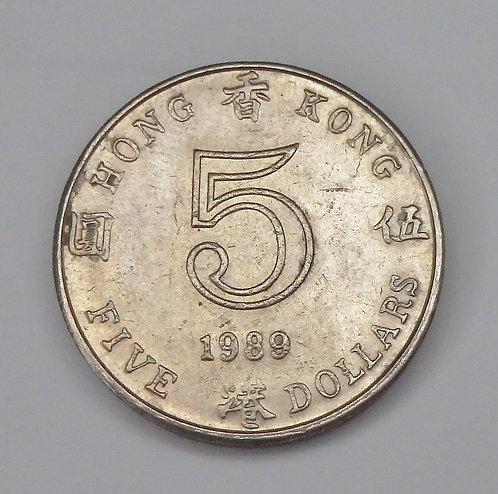 Hong Kong - 5 Dollars - 1989