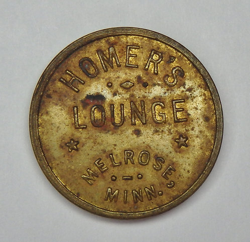 Minnesota, Melrose - Homer's Lounge Token