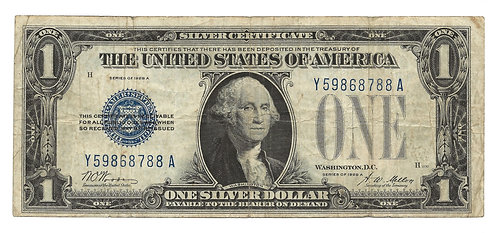 """1928-A $1 Silver Certificate """"Funny Back"""""""