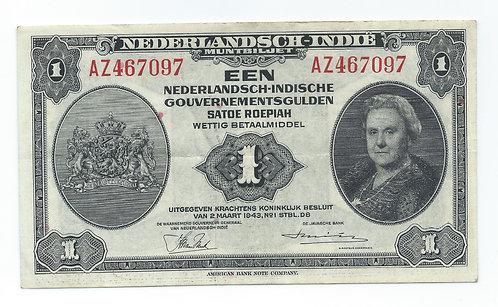 Netherlands-Indies - Gulden - 1943