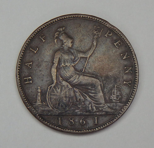 Great Britain - 1/2 Penny - 1861