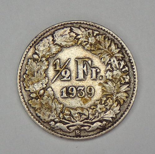 Switzerland - 1/2 Franc - 1939-B