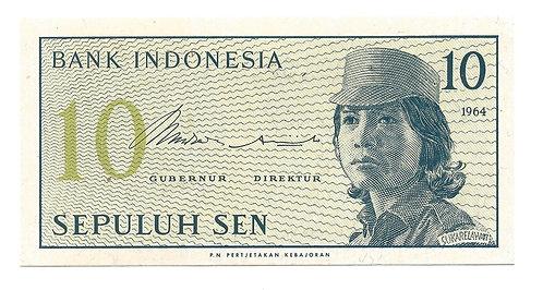 Indonesia - 10 Sen - 1964