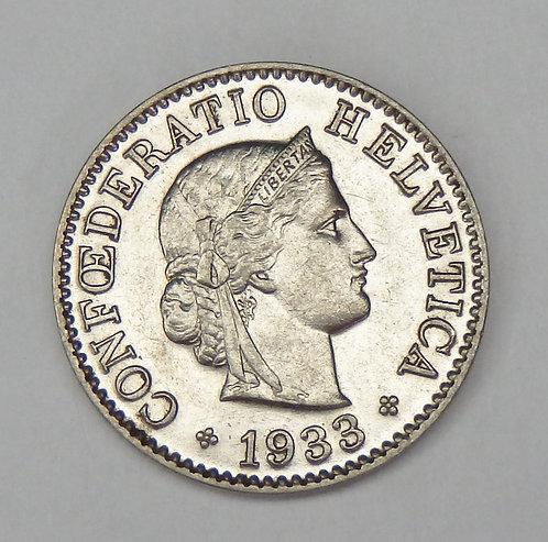 Switzerland - 5 Rappen - 1933-B