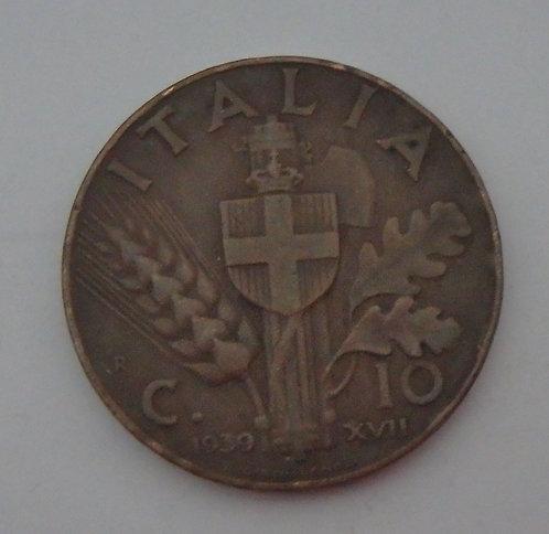Italy - 10 Centesimi - 1939R