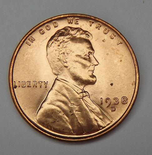 1938-D Wheat Cent