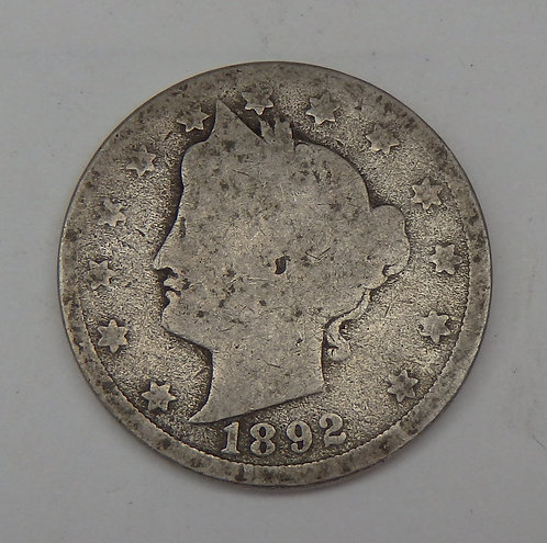 1892 Liberty V Nickel