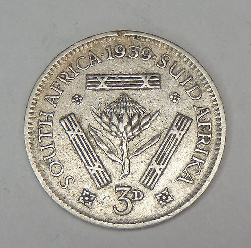 South Africa - 3 Pence - 1939