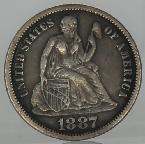 1887 Liberty Seated Dime