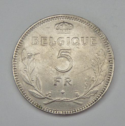 Belgium - 5 Frank - 1937