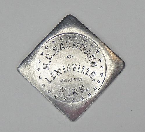 Minnesota, Lewisville - M.C. Bachmann Token