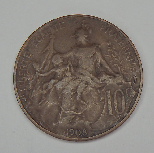 France - 10 Centimes - 1908
