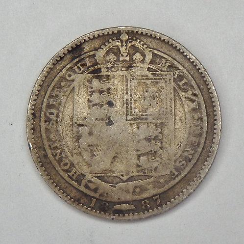 Great Britain - Shilling - 1887