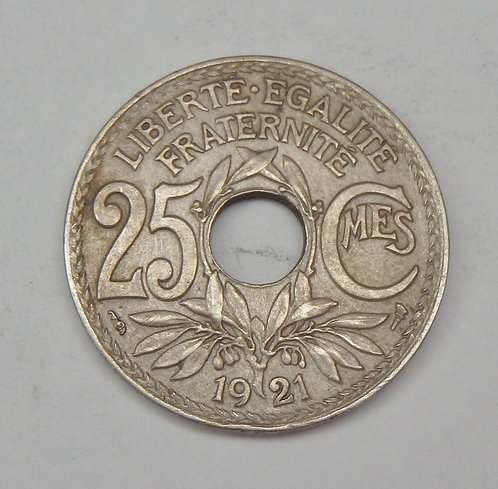 France - 25 Centimes - 1921