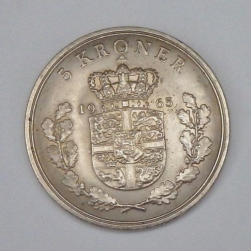 Denmark - 5 Kroner - 1965