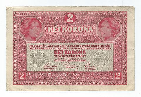 Hungary - 2 Korona - 1917
