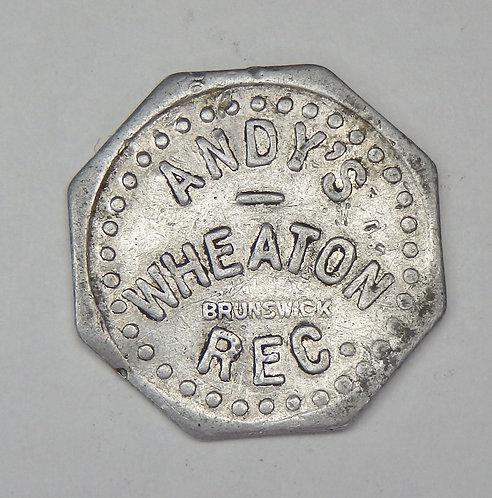 Minnesota, Wheaton - Andy's Wheaton Rec. Token
