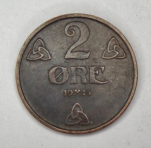 Norway - 2 Ore - 1913