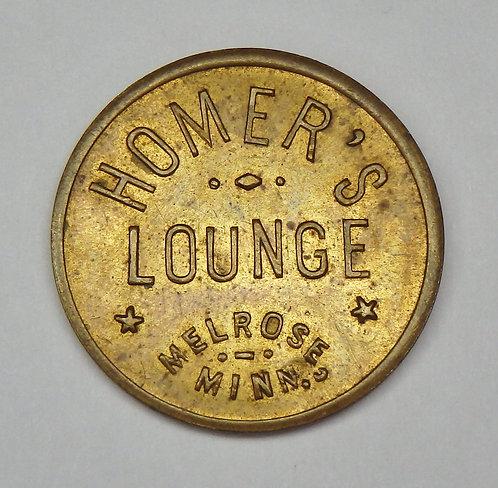 Minnesota, Melrose - Homer's Lounge Token