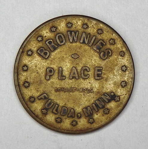Minnesota, Fulda - Brownie's Place Token