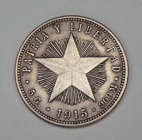 Cuba - 20 Centavos - 1915