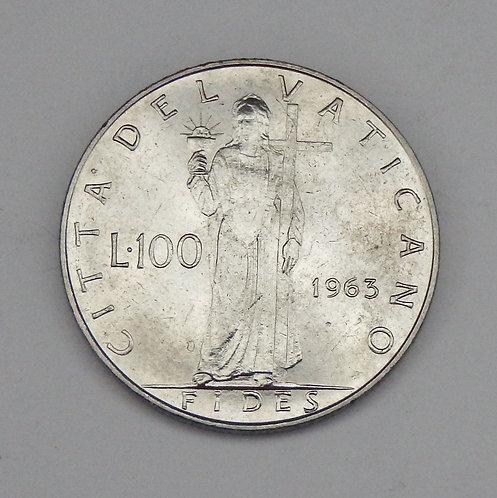 Vatican City - 100 Lire - 1963