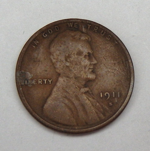 1911-S Lincoln Cent