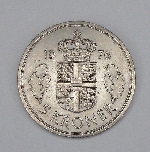 Denmark - 5 Kroner - 1976
