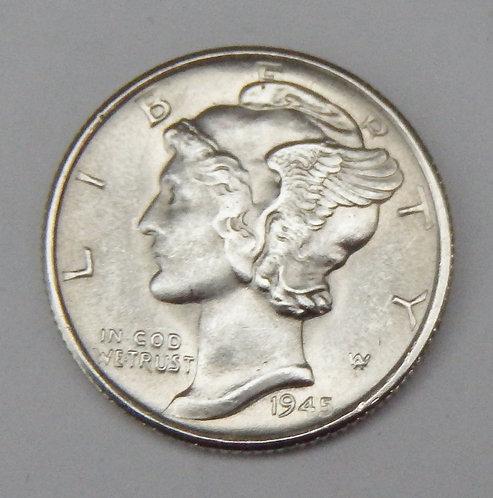 1945-S Mercury Dime