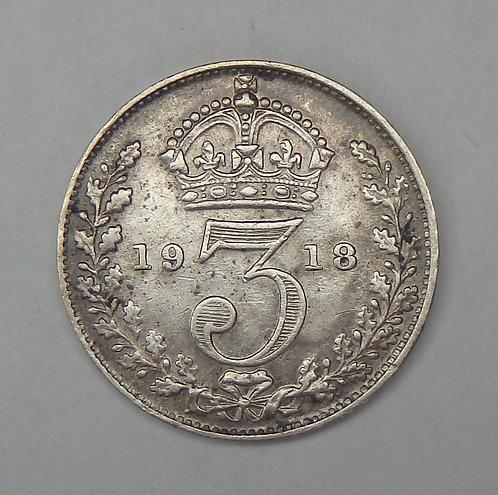 Great Britain - 3 Pence - 1918