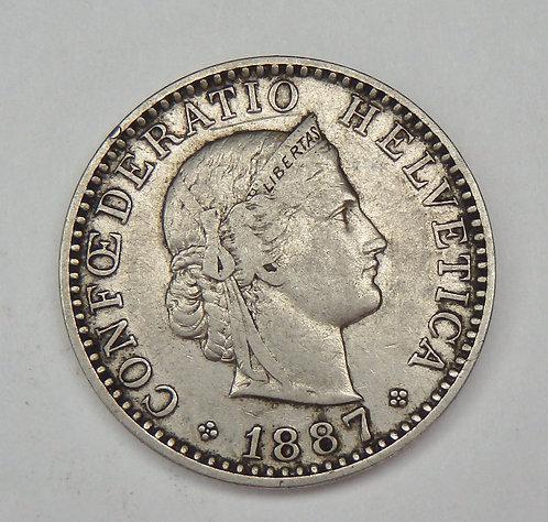Switzerland - 20 Rappen - 1887-B