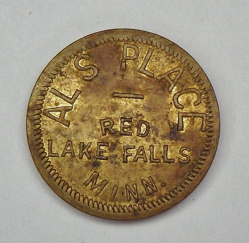 Minnesota, Red Lake Falls - Al's Place Token