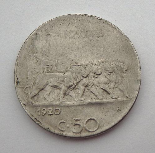 Italy - 20 Centesimi - 1920-R