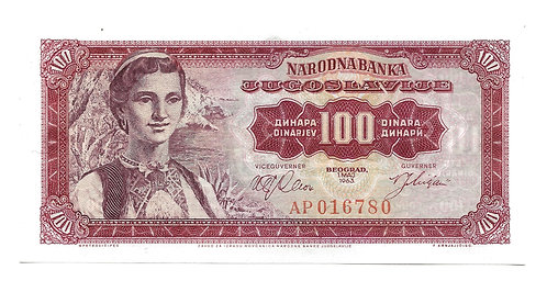 Yugoslavia - 100 Dinara - 1963