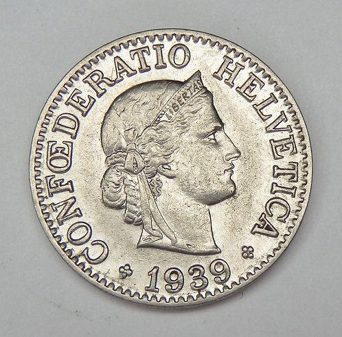 Switzerland - 10 Rappen - 1939-B