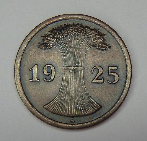 Germany - 2 Reichspfennig - 1925-A