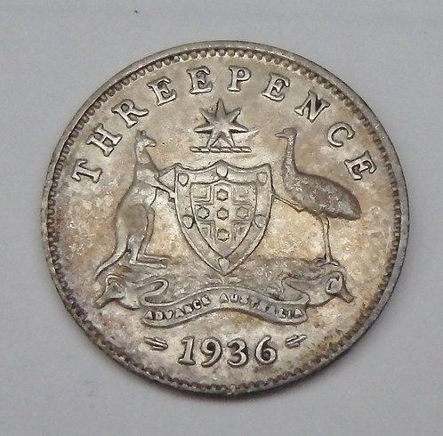 Australia - 3 Pence - 1936