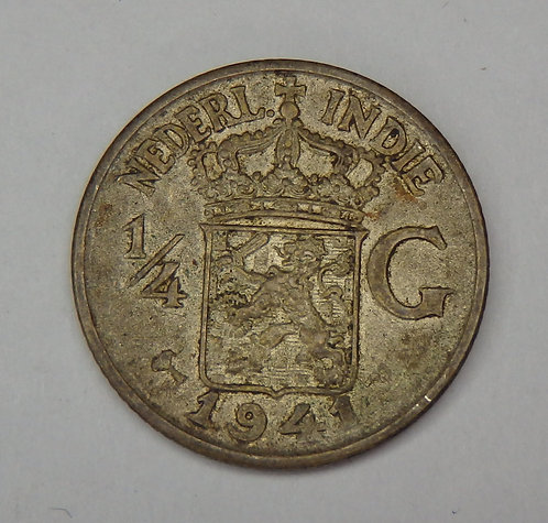 Netherlands East Indies - 1/4 Gulden - 1941-P