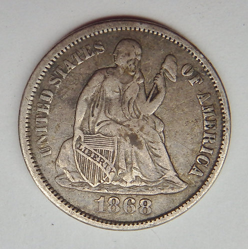 1868-S Seated Liberty Dime