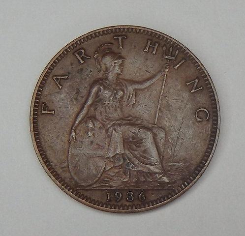 Great Britain - Farthing - 1936