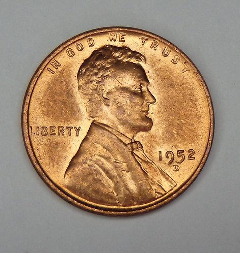 1952-D Wheat Cent