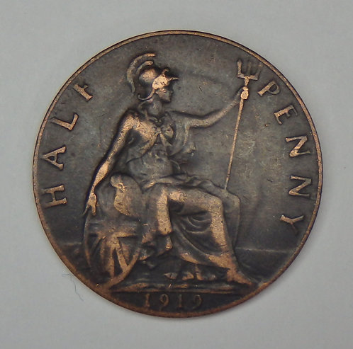 Great Britain - 1/2 Penny - 1919