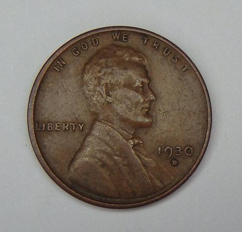 1930-D Wheat Cent