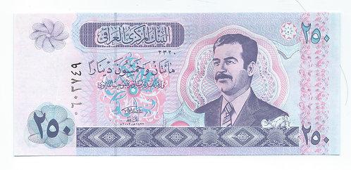 Iraq - 250 Dinars - 2002